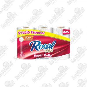 PAPEL HIGIENICO ROSAL PLUS XXG*6UND