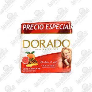 JABON DORADO TORONJA-ACEITE ARGAN 125GR*3UND