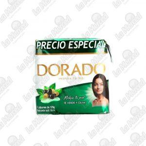 JABON DORADO TE VERDE-OLIVA 125GR*3UND
