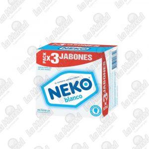 JABON NEKO BLANCO 125GR*3UND
