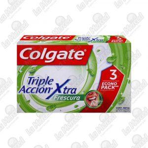 CREMA DENTAL COLGATE TRIPLE ACCION XTRA FRESCURA 75ML*3UND