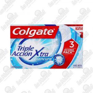 CREMA DENTAL COLGATE TRIPLE ACCION XTRA BLANCURA 75ML*3UND