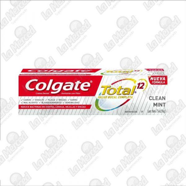 CREMA DENTAL COLGATE TOTAL12 CLEAN MINT*75ML