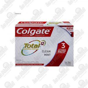 CREMA DENTAL COLGATE TOTAL12 CLAN MINT 75ML*3UND