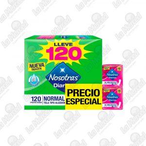 PROTECTORES NOSOTRAS DIARIOS NORMAL*120UND+30 MULTESTILO