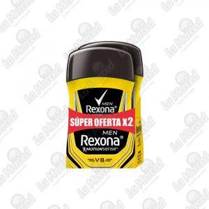 DESODORANTE REXONA BARRA MEN V8 50GR*2UND