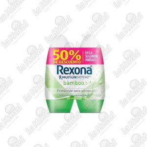 DESODORANTE REXONA ROLLON BAMBOO 50ML*2UND