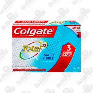 CREMA DENTAL COLGATE TOTAL12 SALUD VISIBLE*3UND