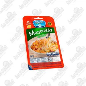 QUESO ALPINA MOZARELLA 15UND*240GR