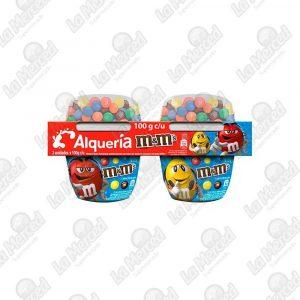 YOGURT ALQUERIA M&M'S 100GR*2UND