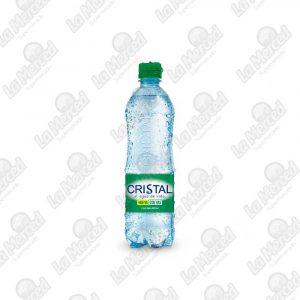 AGUA CRISTAL CON GAS*600ML