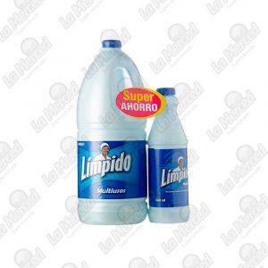BLANQUEADOR LIMPIDO MULTIUSO*1800ML+460ML