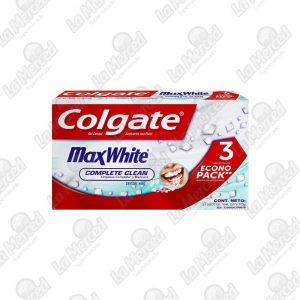 CREMA DENTAL COLGATE MAX WHITE*75ML*3UND
