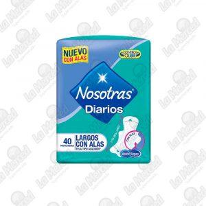 PROTECTORES NOSOTRAS DIARIOS LARGOS C/ALAS*40UND