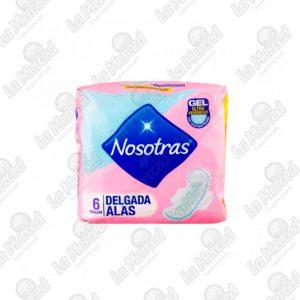 TOALLAS HIGIENICAS NOSOTRAS DELGADAS ALAS*6UND