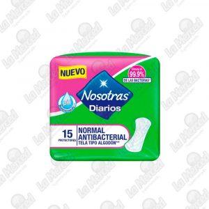 PROTECTORES NOSOTRAS DIARIOS ANTIBAC*15UND