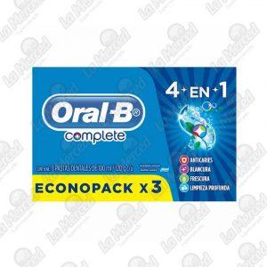 CREMA DENTAL ORAL-B COMPLETE 4 EN 1 *60GR