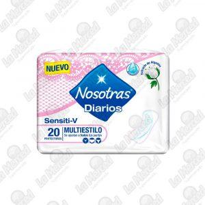 PROTECTORES NOSOTRAS DIARIOS  SENSITI-V*20UND