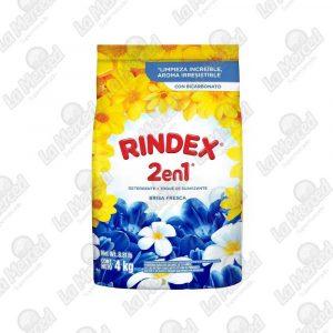 DETERGENTE RINDEX 3EN1 BRISA FRESCA*4000GR