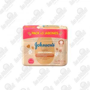 JABON JOHNSON'S BABY AVENA NATURAL*110GR*3UND