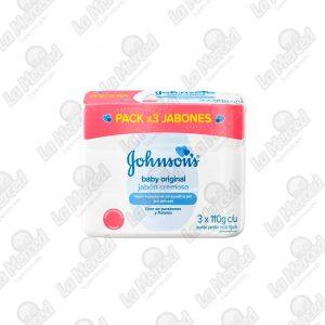 JABON JOHNSON'S BABY ORIGINAL 110GR*3UND