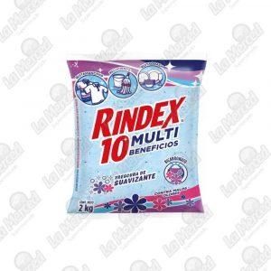 DETERGENTE RINDEX 10 MULTI BENEFICIOS BICARBO-SUAVIZANTE*2000GR