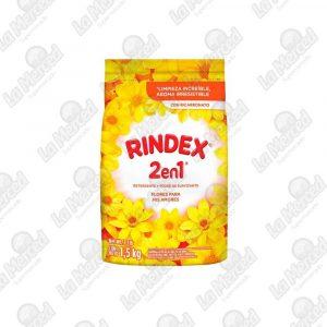 DETERGENTE RINDEX 3EN1FLORES PARA MIS AMORES*1500GR