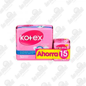 PROTECTORES KOTEX DAYS NORMAL*50 UND+15 LINKISS