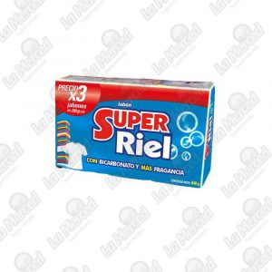 JABON SUPER RIEL 280GR*3UND